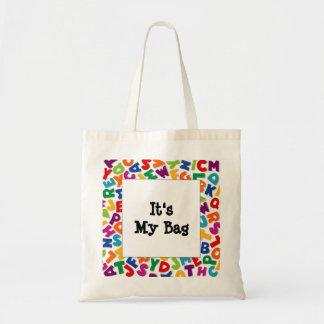 Alphabet Frame Canvas Bags