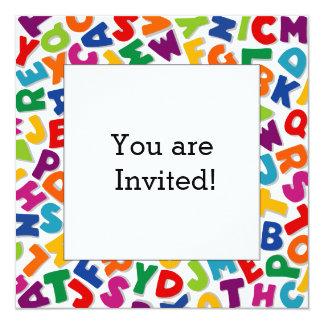 Alphabet Frame Personalized Invitation