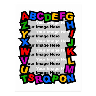 Alphabet Frame Postcard