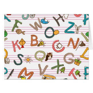 Alphabet Large Greeting Cards