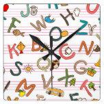 Alphabet Fun Letters & Graphics Wallclock