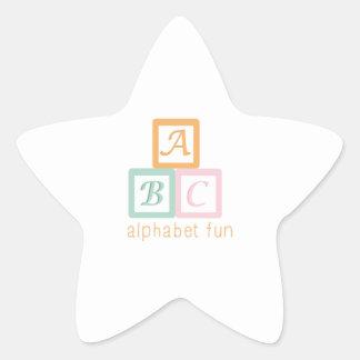 Alphabet Fun Star Sticker