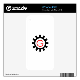 Alphabet G in gear iPhone 4 Decal