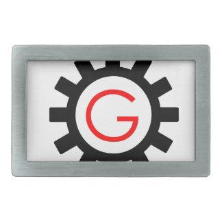 Alphabet G in gear Rectangular Belt Buckle