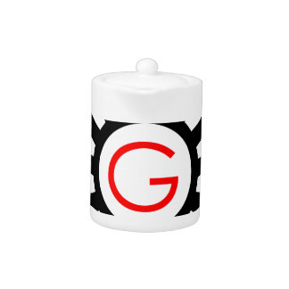 Alphabet G in gear Teapot