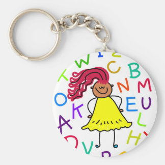 Alphabet Girl Keychain