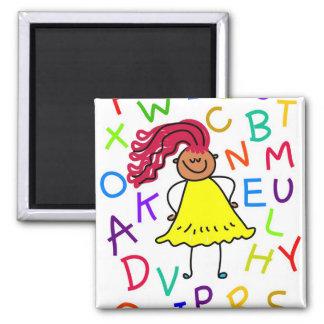 Alphabet Girl Magnet