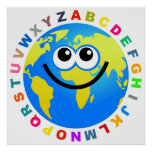 Alphabet Globe Posters