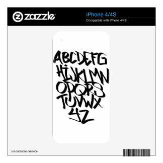 alphabet graffiti decal for the iPhone 4