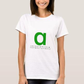 Alphabet Green A T-Shirt