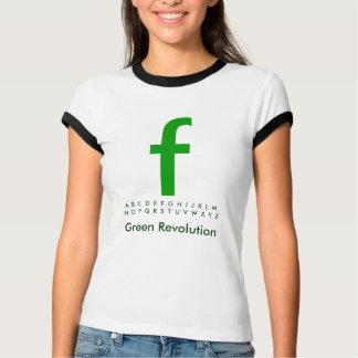 Alphabet Green F Shirt