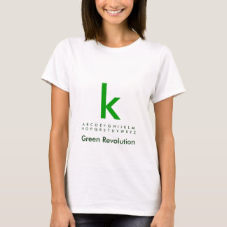 Alphabet Green K T-Shirt