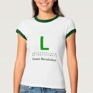 Alphabet Green L Tshirt