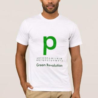 Alphabet Green P T-Shirt