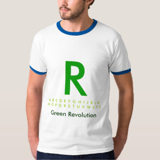 Alphabet Green R T-Shirt