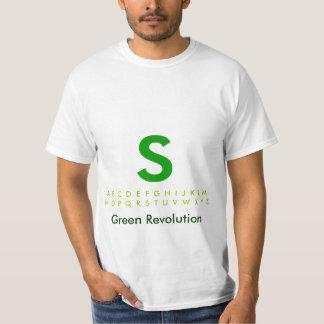 Alphabet Green S T-Shirt
