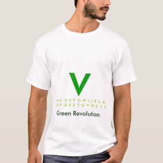 Alphabet Green V T-Shirt