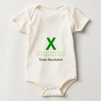Alphabet Green X Baby Bodysuit
