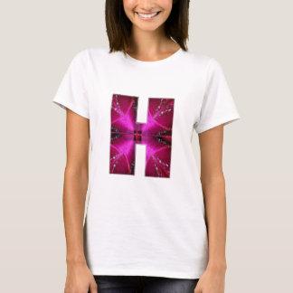 Alphabet  H HH HHH  :  Sparkle Theme Star Circle T-Shirt