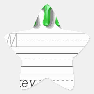 Alphabet handwriting series star sticker