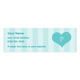 "Alphabet Hearts ""P"" Profile Cards Business Cards"