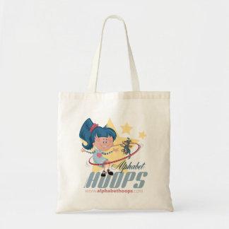 Alphabet Hoops tote Bags
