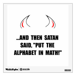 Alphabet In Math Room Graphics