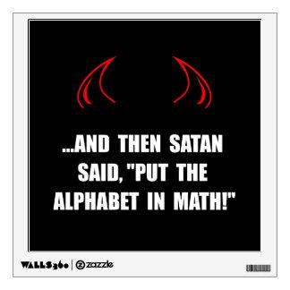 Alphabet In Math Room Sticker