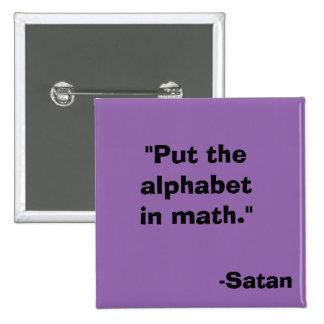 Alphabet in Math Satan Button
