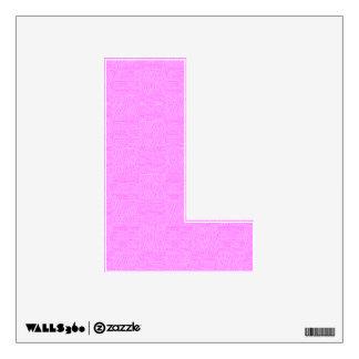 Alphabet L Decal - Pink Woven Texture