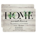 """Fun H O M E Alphabet Leaf Housewarming Party Invitations  (Visit shop for more housewarming party invitation, including ones for tiny homes. Type """"housewarming"""" in the search box)"""