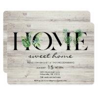 Alphabet Leaf Home Housewarming Invitation