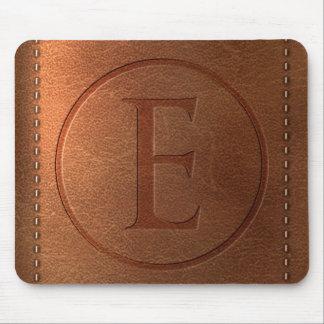 alphabet leather letter E Mouse Pad