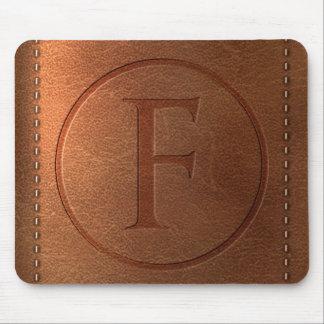 alphabet leather letter F Mouse Pad