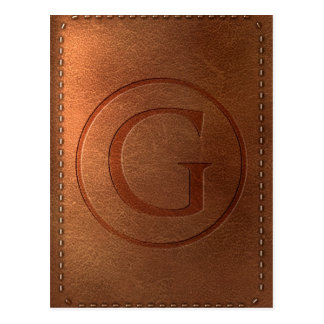 alphabet leather letter G Postcard