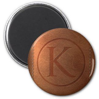 alphabet leather letter K Magnet