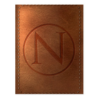 alphabet leather letter NR Postcard