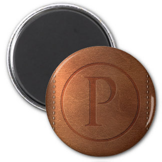 alphabet leather letter P Magnets