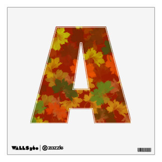 Alphabet Letter A Initial - Fall / Autumn Colors Wall Sticker