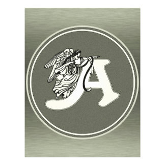 alphabet letter A monogram initial with angel in s Flyer