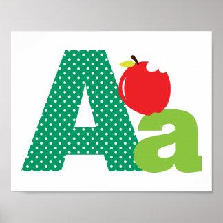 Alphabet Letter A Nursery Poster