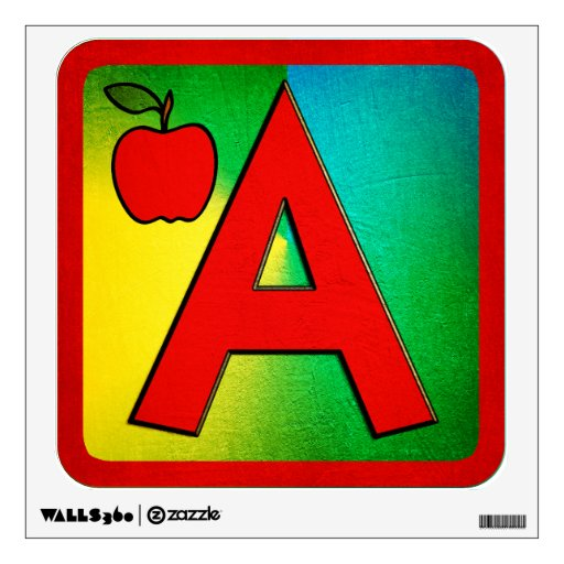 Alphabet Letter A Room Graphics