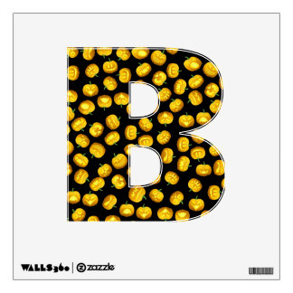 Alphabet Letter B Initial - Carved Pumpkins Wall Decal