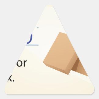 Alphabet letter B Triangle Sticker