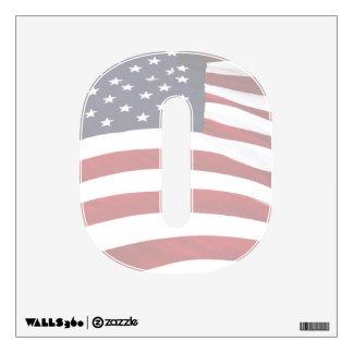 Alphabet Letter Decal - American Flag