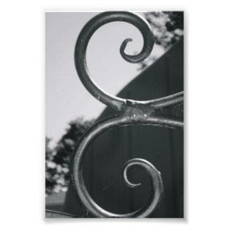 Alphabet Letter E (5) Black and White Photo Print