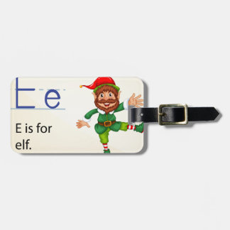 Alphabet letter E Luggage Tag