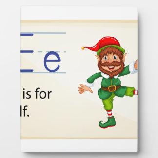 Alphabet letter E Plaque