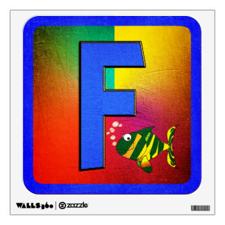 Alphabet Letter F Wall Decals