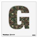 Alphabet Letter G - British 95 Forest Camouflage Room Sticker